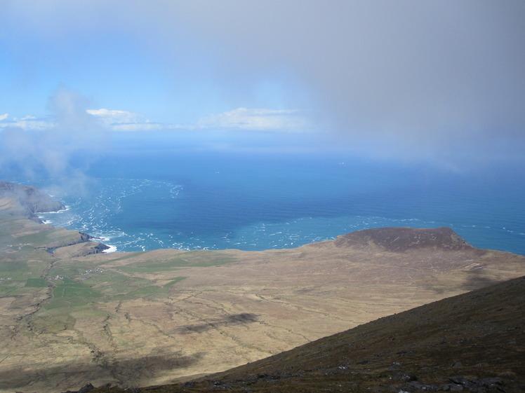 The Atlantic ocean from the summit of Mount Brandon, Brandon Mountain