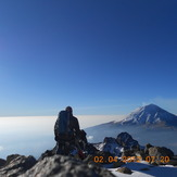 A talk with the volcano., Iztaccihuatl