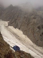 At-the-base-of-the-main-gulley, Deo Tibba photo