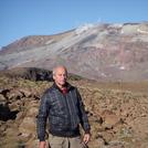 Volcan Copahue al fondo foto N. Ovando