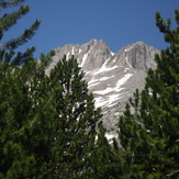 the 'V'  shape of higher summits of Olympuw, Mount Olympus