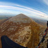 View to Croagh Patrick from the west- soaring on paraglider