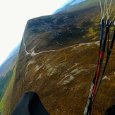 Soaring above Croagh Patrick's trail