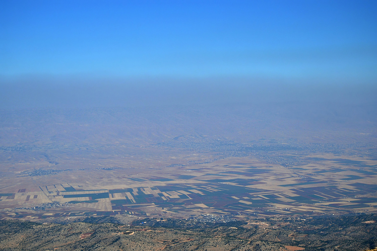 View of the Bekaa valley from qurnat as sawda, Qurnat as Sawda'