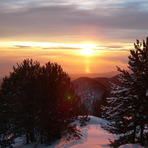 the sun rise, Mount Olympus