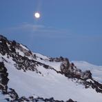 LUNA LLENA AL AMANECER, Volcan Lanin