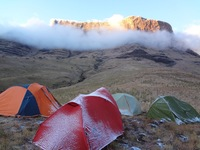 Camping under Giants Castle, Giant's Castle photo