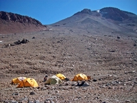 Camp 1 a 5500 msnm (ruta arqueologica), Llullaillaco photo