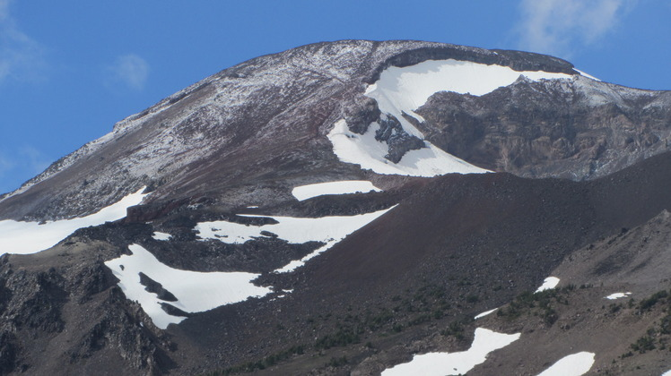 South Sister after Thunderstorm/Hailstorm, South Sister Volcano