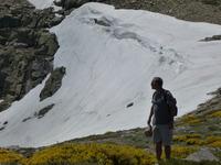 Summer snowpack in Peñalara, July 2013, Mount Peñalara photo
