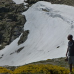 Summer snowpack in Peñalara, July 2013, Mount Peñalara
