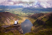 The view over Coumshinaun Lake, Comeragh Mountains photo