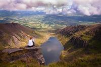 The view over Coumshinaun Lake, Comeragh Mountains photo