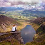 The view over Coumshinaun Lake, Comeragh Mountains