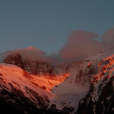 peaks of Mt. Olympus with last sunlight, Mount Olympus
