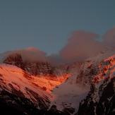 peaks of Mt. Olympus with last sunlight, Mount Olympus