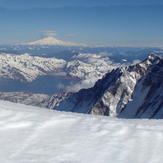 Pano shot from the south rim..., Mount Saint Helens