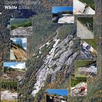 Mosaic of Upper Wolfjaw's White Slide, Upper Wolfjaw Mountain