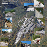 Mosaic of Upper Wolfjaw's White Slide, Upper Wolfjaw Mountain