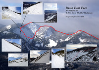 Mosaic of Basin Mountain's East Face, A Winter Climb, Basin Mountain (New York) photo