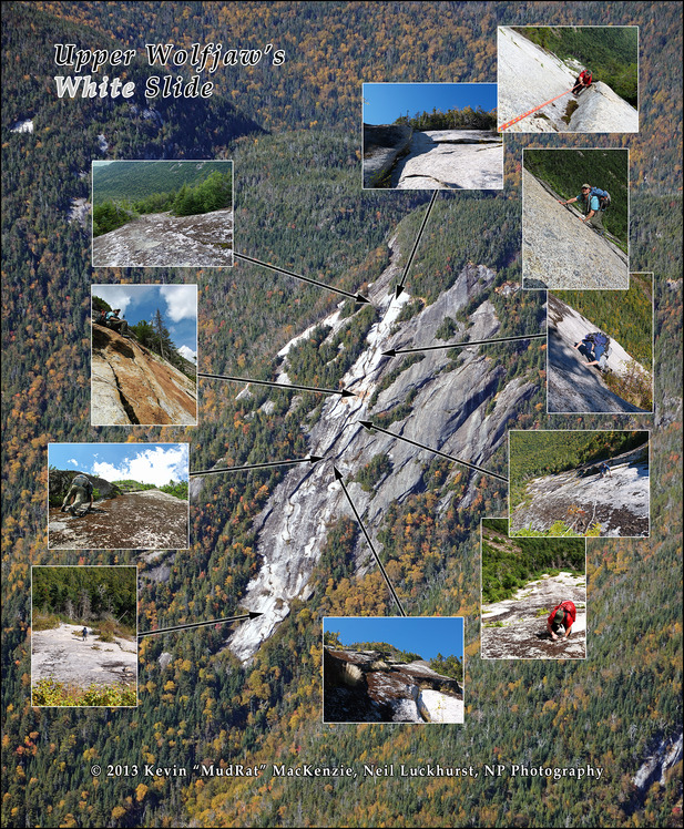 Upper Wolfjaw Mountain's White Slide