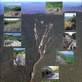 Mosaic of Santanoni's Eastern (Twin) Slide, Santanoni Peak