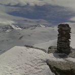Alkazaba, Mulhacen and Veleta from Sierra Nevada (left to right)