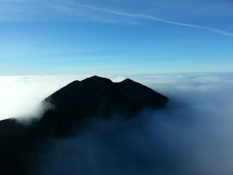 Caher Mountain, Macgillycuddy Reeks, Kerry., Carrantuohill