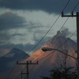 The actived Volcano and Snow mountain Colima, Nevado de Colima
