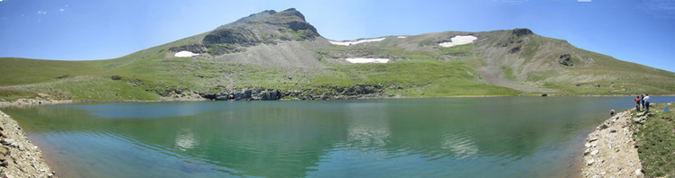 Summit of Çakırgöl Mountain and Lake, Çakirgöl or Cakirgol