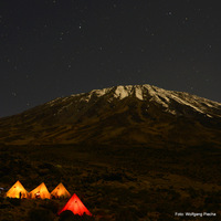 Kilimanjaro by night, Mount Kilimanjaro photo