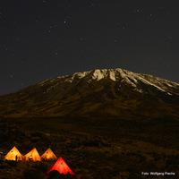 Kilimanjaro by night, Mount Kilimanjaro photo