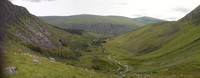 route from Glenmalure, Lugnaquilla photo