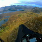 Soaring above Inagh Valley in Connemara, Barrslievenaroy