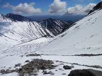 Looking down from near top of Mt Tapuaenuku on March 8th 2014, Mt Tapuaenuku (Kaikouras) photo