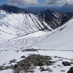 Looking down from near top of Mt Tapuaenuku on March 8th 2014, Mt Tapuaenuku (Kaikouras)