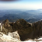 cima, crater, Pico de Orizaba