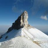 Cresta sobre glaciar, Iztaccihuatl