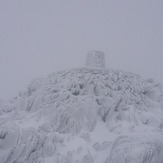 summit in snow, Snowdon