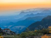 Sunset at Pedra Furada, Morro da Igreja or Church hill photo