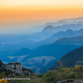 Sunset at Pedra Furada, Morro da Igreja or Church hill