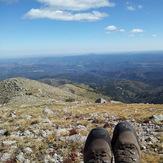 Looking at the east summit ridge, Sierra Blanca