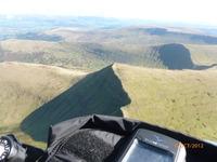 Paragliding above Pen y Fan, Cribyn photo