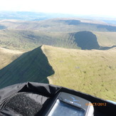 Paragliding above Pen y Fan, Cribyn