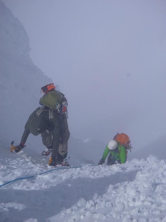 Up the final push, Mount Hood