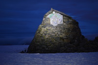 The Refuge Shelter in calmer times, Ben Nevis photo
