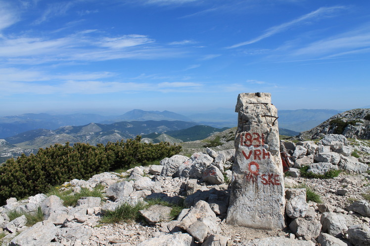 Dinara, the highest peak in Croatia