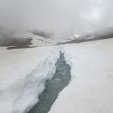 river on the snow, سبلان