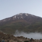 Damavand in the  morning from  Gosfandsara