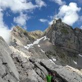 Säntis 2503 m, Peak top right